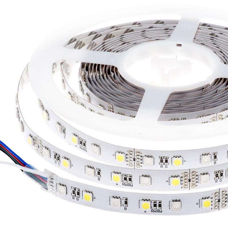 Tira LED EPISTAR SMD5050, RGB+WW, DC24V, 5m (60Led/m) - IP67,
